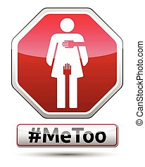 #MeToo - traffic sign with woman pictogram
