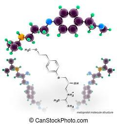 Metoprolol molecule structure
