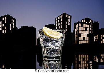 metrópoli, ginebra, tónico, cóctel