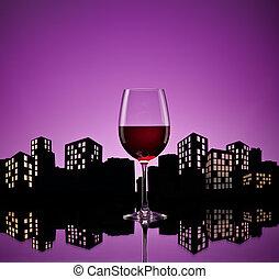 metrópoli, vino rojo