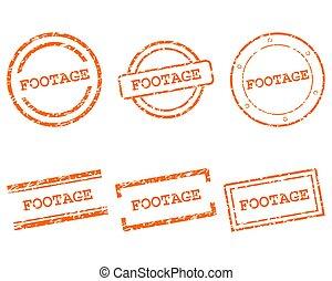metraggio, francobolli