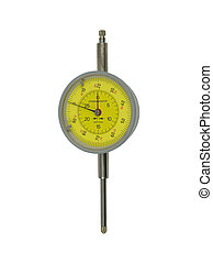metric dial gauge indicator on a white background