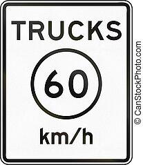 Metric Speed Limit Sign