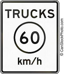 Metric Speed Limit Sign