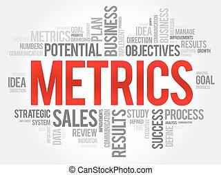 metrics, palabra, nube