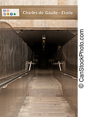metro, de, etoile, gaulle, estação, charles