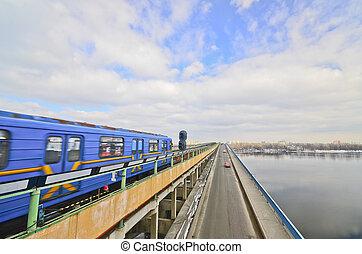 metro, em, kiev, ucrânia