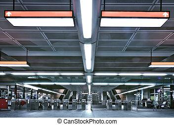 metro, entrada, e, portão