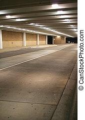 metro, estacionamiento
