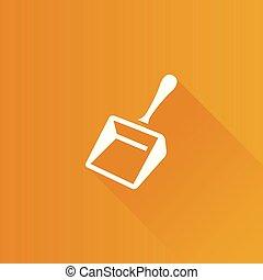 Metro Icon - Dustpan - Dustpan icon in Metro user interface...