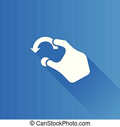 Metro Icon - Gesture - Finger gesture icon in Metro user...