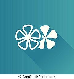 Metro Icon - Jasmine flowers - Jasmine flowers icon in Metro...