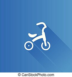 Metro Icon - Kids tricycle - Kids tricycle icon in Metro...