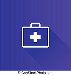 Medical case icon in Metro user interface color style. Health care equipment storage