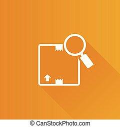Metro Icon - Parcel tracking - Parcel tracking icon in Metro...