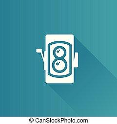 Metro Icon - TLR camera - Twin lens reflex camera icon in ...