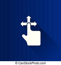 Metro Icon - Touchpad Gesture - Finger gesture icon in Metro...