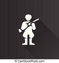 Metro Icon - World War army - World War army icon in Metro...