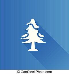 metro, icona, -, albero