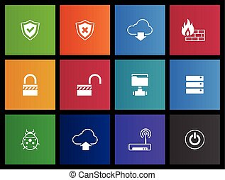 Metro Icons - Computer Network