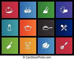 Metro Icons - Cooking