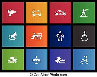Metro Icons - Toys - Vintage toy icons in Metro style.