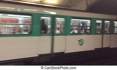 Metro In Paris - Shot of Metro In Paris