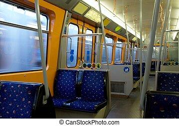 Metro - Inside a metro carriage in Vienna, Austria