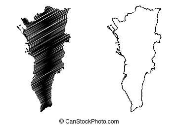 metro, manila, mapa
