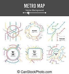 Metro Map Vector. Plan Map Station Metro And Underground...