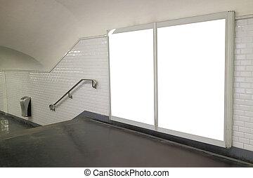 metro parís, escalera