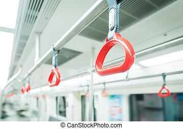 metro, pasamano