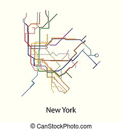 metro, pretas, icon., fundo, isolado, ícone, vetorial, mapa, branca