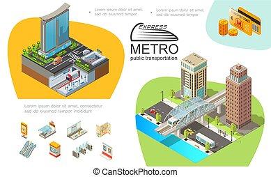 Metro Public Transport Infographic Template - Metro public...