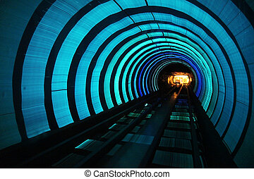 metro, schneller zug, mit, bewegungszittern