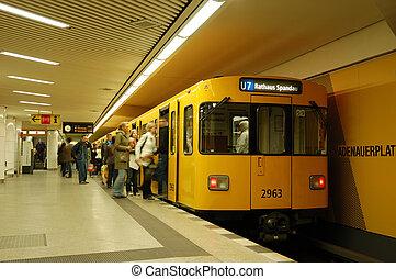 Metro Station - Scene in a metro station in berlin