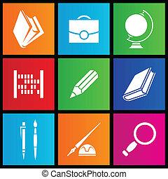 Metro style school objects