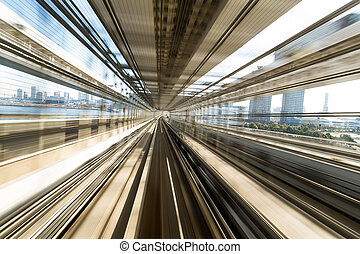 Metro subway tracks