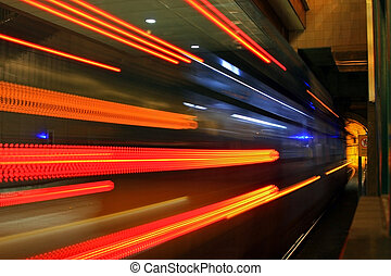 metro, túnel, #1
