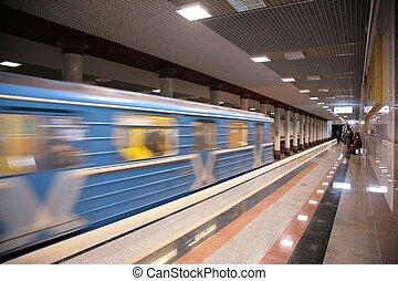 metro train arrival