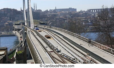 metro train bridge and station 1