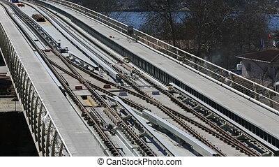 metro train bridge and station 10