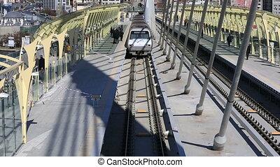 metro train bridge and station 11