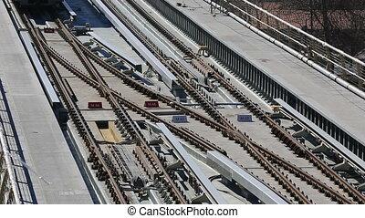 metro train bridge and station 5