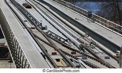 metro train bridge and station 8