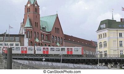 Metro train in Hamburg
