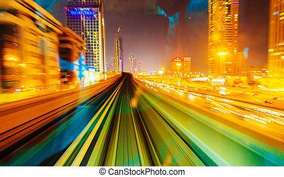 metro, trilhas subway