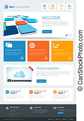 Metro Website Template - This image is a vector file...