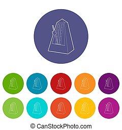 Metronome icon, outline style