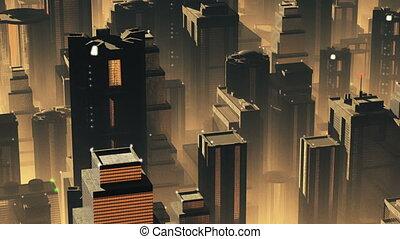 Metropolis Aerial 1 - Metropolis - aerial 3D render